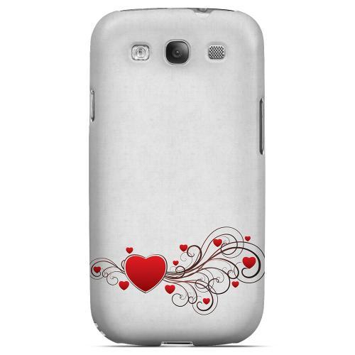 Love Bloom Geeks Designer Line Heart Series Matte Hard Case for Samsung Galaxy S3