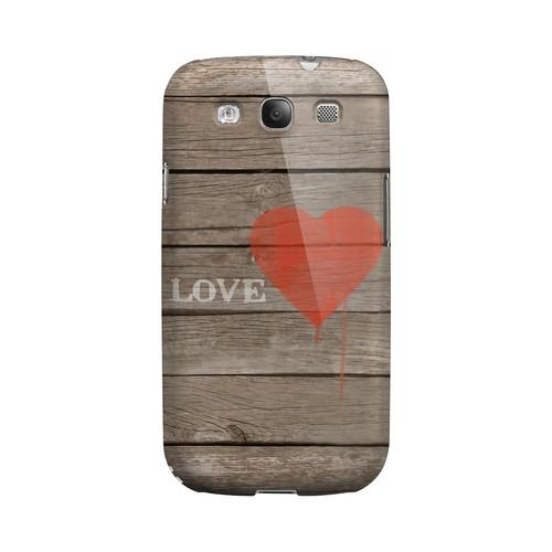 Rustic Love Geeks Designer Line Heart Series Matte Hard Case for Samsung Galaxy S3