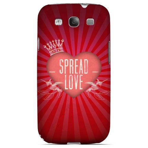 Spread Love Geeks Designer Line Heart Series Matte Hard Case for Samsung Galaxy S3