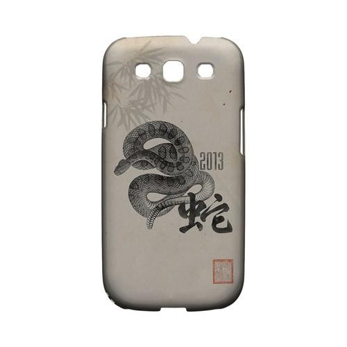 Snake on Parchment Geeks Designer Line Chinese Horoscope Series Matte Hard Case for Samsung Galaxy S3