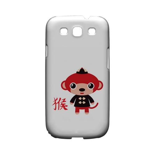 Monkey on White Geeks Designer Line Chinese Horoscope Series Matte Hard Case for Samsung Galaxy S3