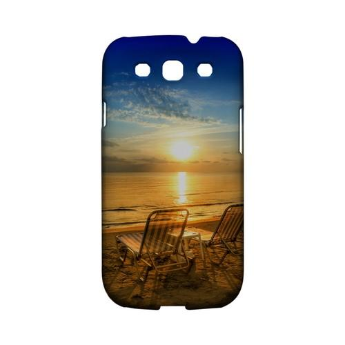 Beach Chair Sunrise Geeks Designer Line Beach Series Matte Hard Case for Samsung Galaxy S3
