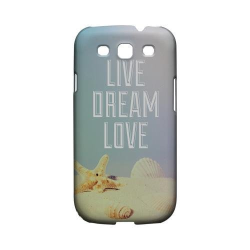 Live Dream Love Geeks Designer Line Beach Series Matte Hard Case for Samsung Galaxy S3
