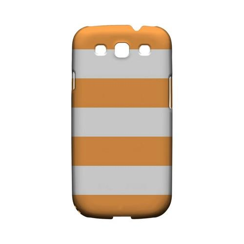 Big Orange - Geeks Designer Line Stripe Series Matte Case for Samsung Galaxy S3