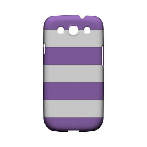 Big Purple - Geeks Designer Line Stripe Series Matte Case for Samsung Galaxy S3