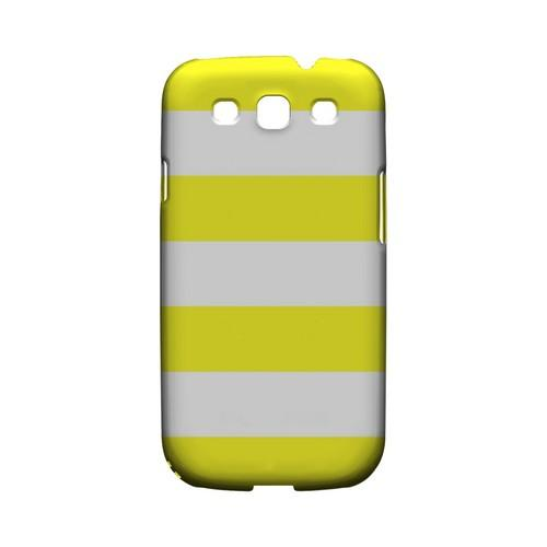 Big Yellow - Geeks Designer Line Stripe Series Matte Case for Samsung Galaxy S3