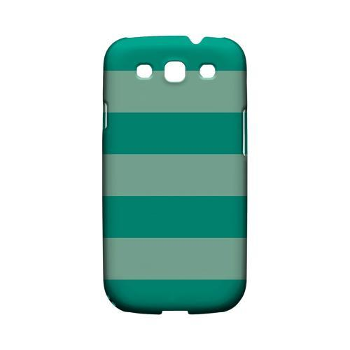 Emerald Grayed Jade - Geeks Designer Line Stripe Series Matte Case for Samsung Galaxy S3