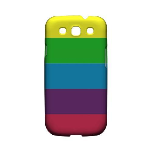 Rainbow Candy Stripes - Geeks Designer Line Stripe Series Matte Case for Samsung Galaxy S3