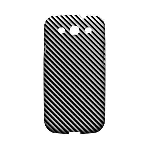 Thin Black/ White Diagonal - Geeks Designer Line Stripe Series Matte Case for Samsung Galaxy S3