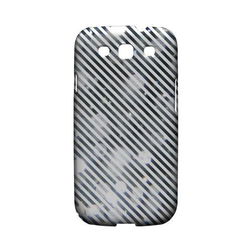 Thin Shimmer Diagonal - Geeks Designer Line Stripe Series Matte Case for Samsung Galaxy S3