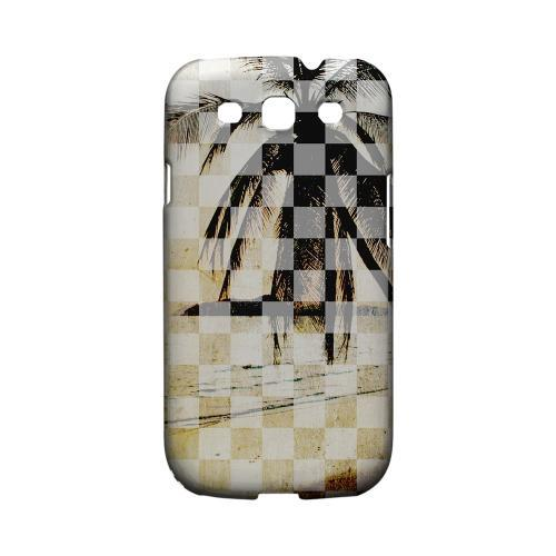 Palm Tree - Geeks Designer Line Checker Series Matte Case for Samsung Galaxy S3