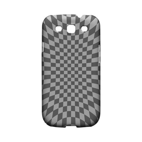 Distortion - Geeks Designer Line Checker Series Matte Case for Samsung Galaxy S3