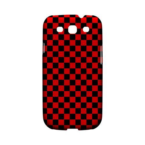 Red/ Black - Geeks Designer Line Checker Series Matte Case for Samsung Galaxy S3