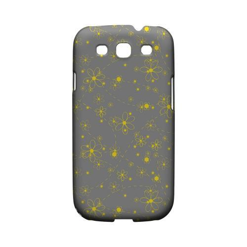 Yellow Daisies on Gray - Geeks Designer Line Floral Series Matte Case for Samsung Galaxy S3