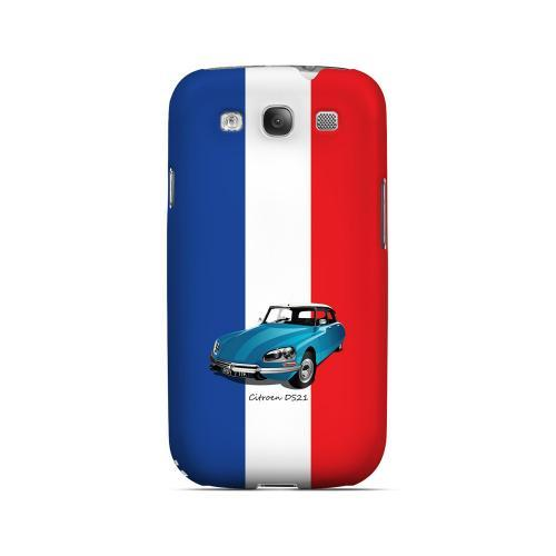Citroen DS21 on Blue/ White/ Red - Geeks Designer Line Auto Series Matte Case for Samsung Galaxy S3