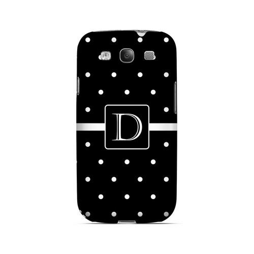 D on Classic Mini Polka Dots - Geeks Designer Line Monogram Series Matte Case for Samsung Galaxy S3