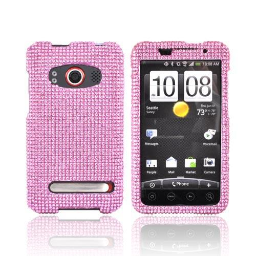 HTC EVO 4G Bling Hard Case - Baby Pink
