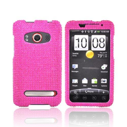 HTC EVO 4G Bling Hard Case - Hot Pink