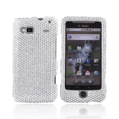T-Mobile G2 Bling Hard Case - Silver