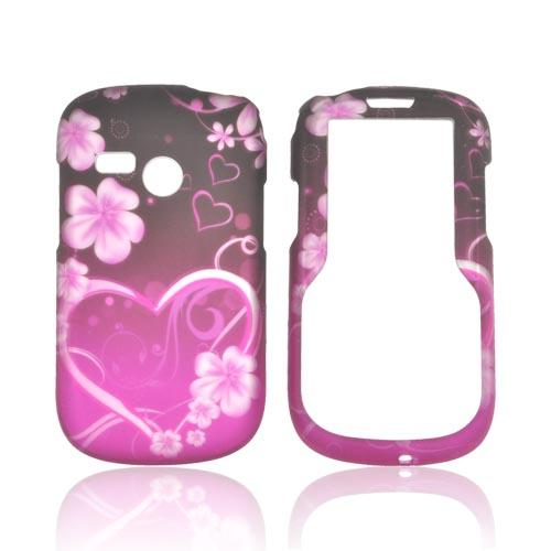 HTC Inspire 4G Bling Hard Case - Pink Lovely Peace