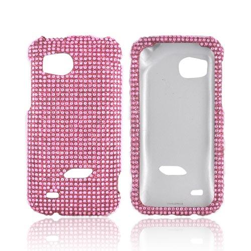 HTC Rezound Bling Hard Case - Baby Pink Gems