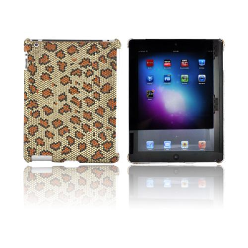 Apple New iPad Bling Hard Case - Gold/ Brown Leopard