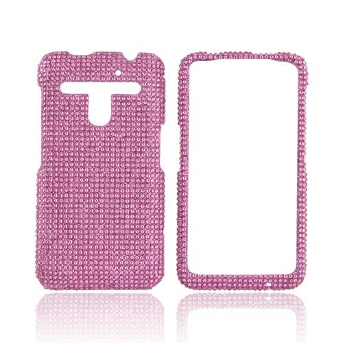 LG Revolution, LG Esteem Bling Hard Case w/ Crowbar - Baby Pink Gems