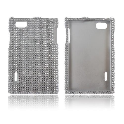 LG Optimus Vu VS950 Bling Hard Case - Silver Gems