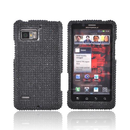 Motorola Droid Bionic XT875 Bling Hard Case - Black Gems