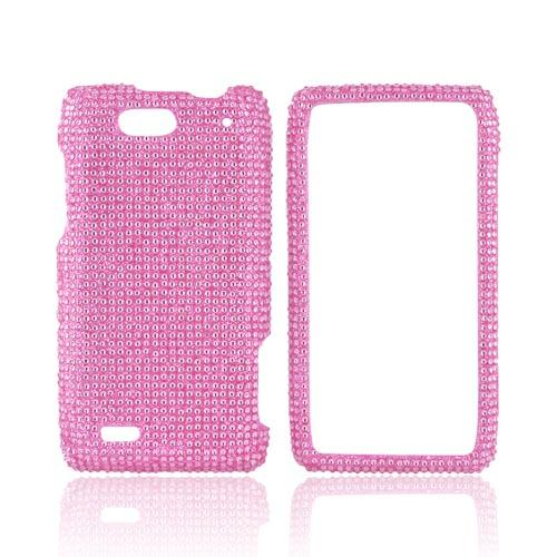 Motorola Droid 4 Bling Hard Case - Baby Pink Gems