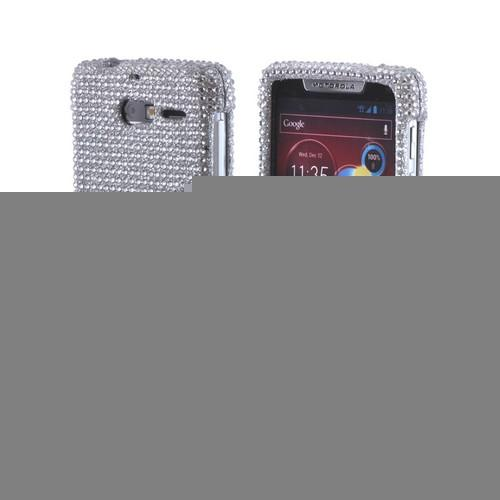 Silver Bling Hard Case for Motorola Droid RAZR M