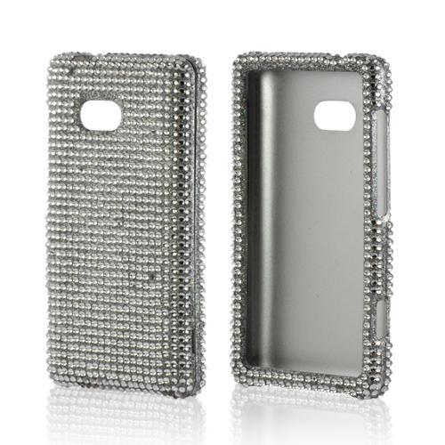 Silver Gems Bling Hard Case for Nokia Lumia 810