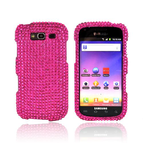 Samsung Galaxy S Blaze 4G Bling Hard Case - Pink Gems