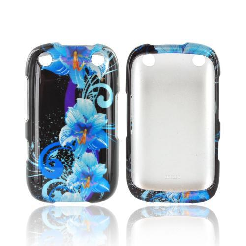 BlackBerry Curve 9310/9320 Hard Case - Blue Flower on Black
