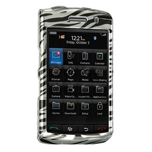Blackberry Storm Hard Case - Silver/Black Zebra
