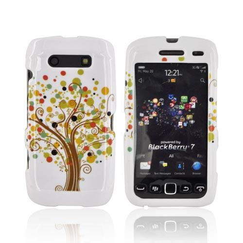 Blackberry Torch 9850, 9860 Hard Case - Tree Design on White