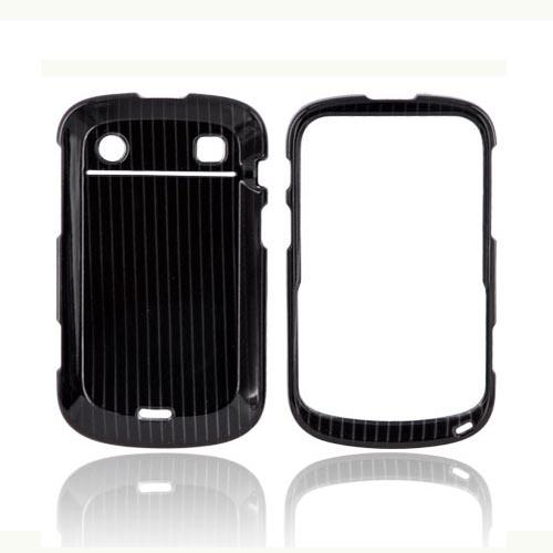 Blackberry Bold 9900, 9930 Hard Case - Silver Lines on Black