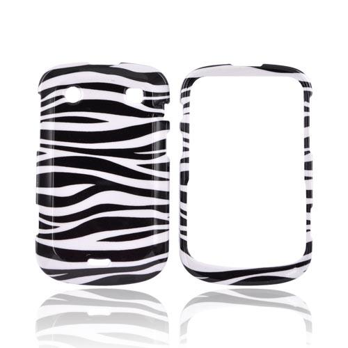 Blackberry Bold 9900, 9930 Hard Case - Black Zebra on White