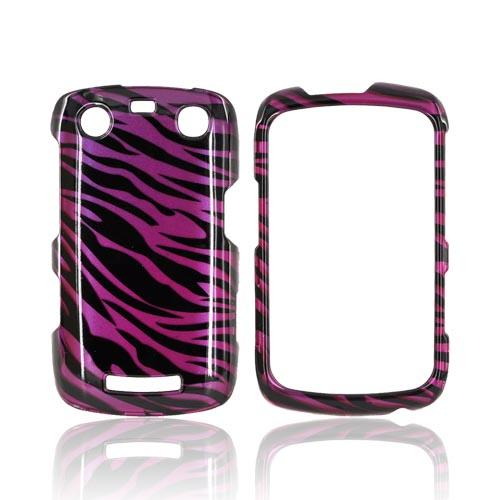 Blackberry Curve 9360/ Apollo Hard Case - Purple/ Black Zebra