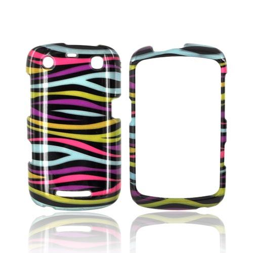 Blackberry Curve 9360/ Apollo Hard Case - Rainbow Zebra on Black