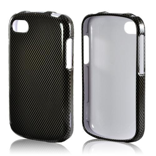 Black/ Gray Carbon Fiber Design Hard Case for Blackberry Q10