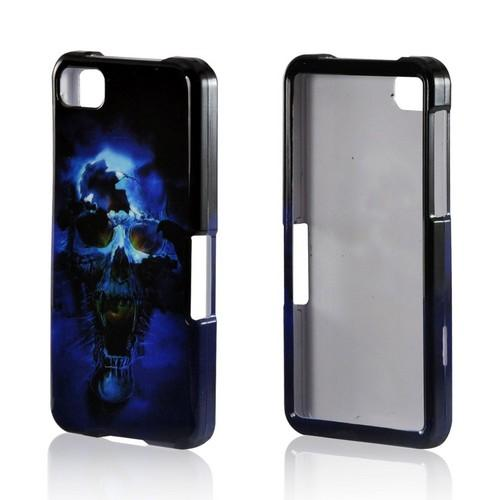 Blue Skull Hard Case for Blackberry Z10
