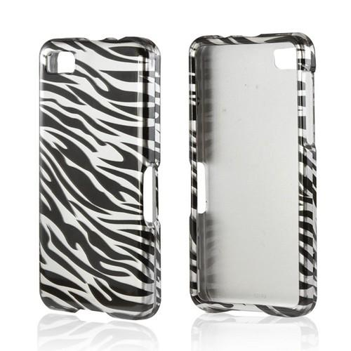 Silver/ Black Zebra Hard Case for Blackberry Z10