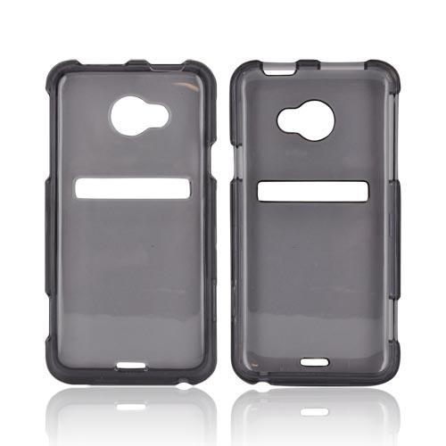 HTC EVO 4G LTE Hard Case - Transparent Smoke