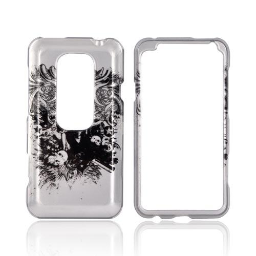 HTC EVO 3D Hard Case - Army Skull on Silver