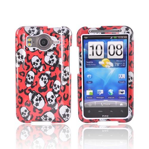 HTC Inspire 4G Hard Case - Red Leopard Skull
