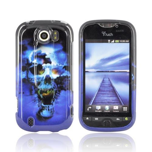 HTC Mytouch 4G Slide Hard Case - Blue Skull