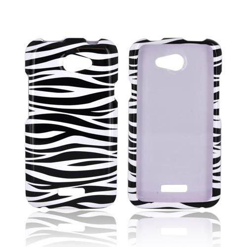 HTC One X Hard Case - Black/ White Zebra