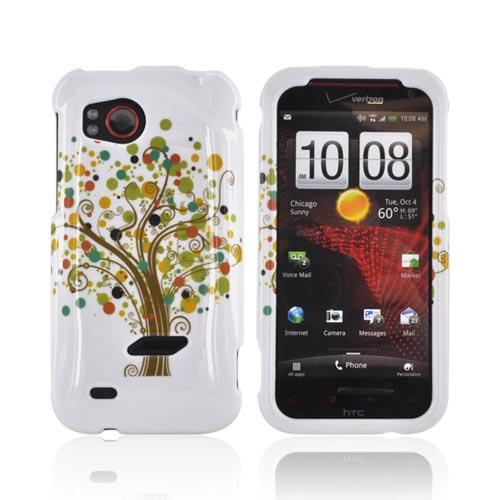 HTC Rezound Hard Case - Tree Design on White