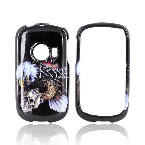 "Huawei M835 Hard Case - Bald Eagle Holding Skull ""Bad Bone"" on Black"